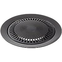 Bright Spark - Plancha grill antiadherente, de acero con acabado pulverizado, 1 unidad, 32 cm de diámetro, color gris