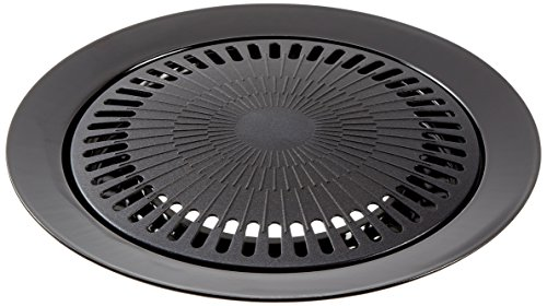 bright-spark-1-piece-32-cm-diameter-powder-coated-steel-non-stick-grill-plate-grey
