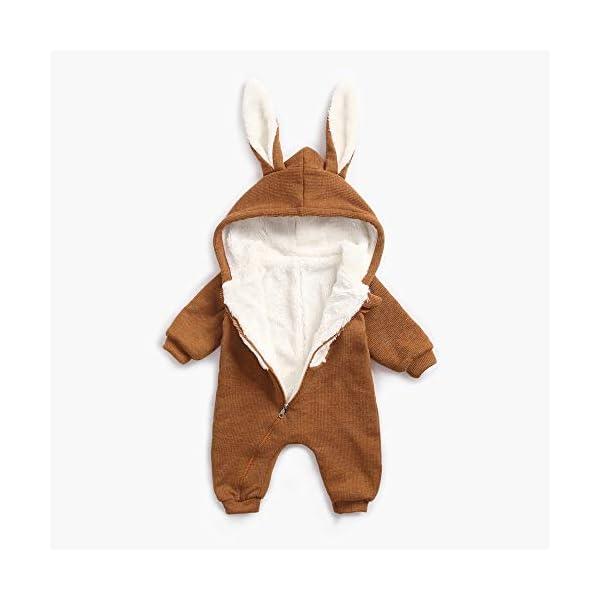 Mitlfuny Niños Niñas Monos de Manga Larga para Bebés Invierno Caliente Felpa Mameluco de Cremallera Grueso Más… 3