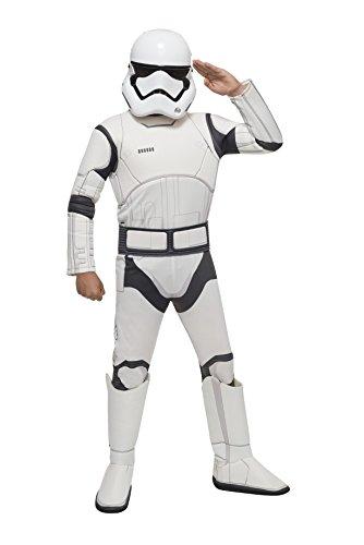 Star Wars Stormtrooper Storm Trooper Kinder Jungen Fasching Halloween Karneval Kostüm 152-164 Large