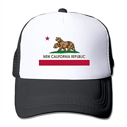 Paint0 New California Republic Unisex Mens Trucker Hat Summer Mesh Cap with Adjustable Hat Snapback Strap Red (Washington Red Skins)