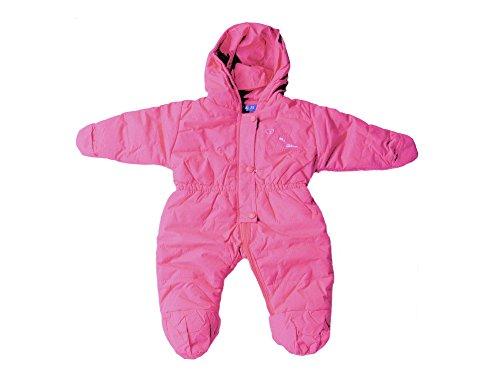 Baby Kleinkind Schnee-Overall, Skianzug, Schneeanzug mit Bärchen-Apllikation, Pink, Rosa, JK-103, Größe:74