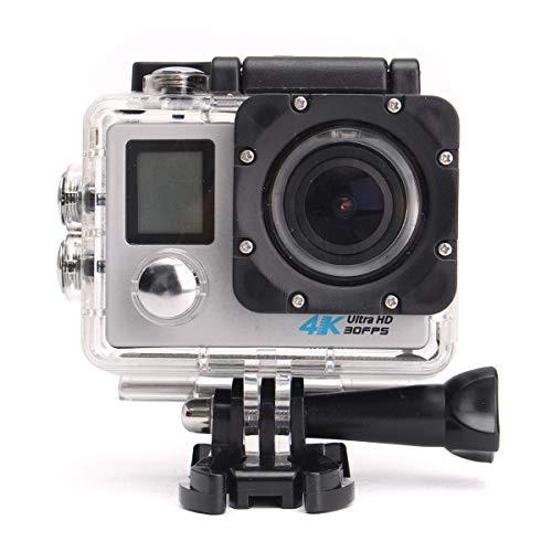 GOZAR 4K 16Mp Ultra HD Imperméable Sport Caméra WiFi Vidéo Casque Cam Action Caméscope - Blanc