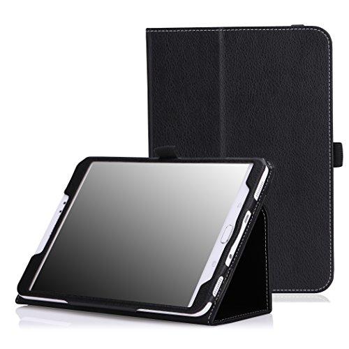 MoKo Samsung Galaxy Tab S2 8.0 Case - Sottile Pieghevole Cover Custodia per Samsung Galaxy Tab S2 8.0 inch Tablet, Nero (con Smart Cover Auto Sveglia/Sonno)