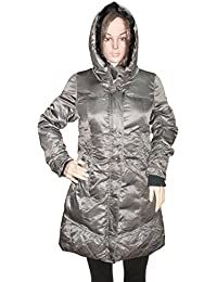 Kotak Sales Imported Stylish Women Winter Coat Warm Jacket Mid Length Overcoat Detachable Hood for Ladies Girls (Size 2XL)Brown