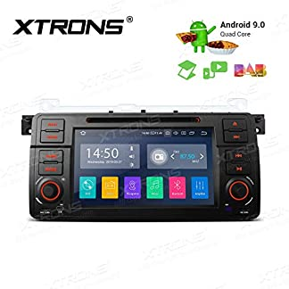 XTRONS-7-Android-Autoradio-mit-Touchscreen-Android-90-Quad-Core-DVD-Player-Full-RCA-Ausgang-WiFi-4G-Bluetooth-2GB-RAM-16GB-ROM-DAB-OBD2-Lenkradsteuerung-DAB-OBD-FR-BMW-E46Rover-75MG-ZT
