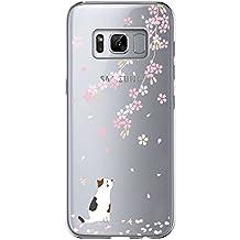 vanki Cover Samsung Galaxy S8 Plus, Galaxy S8 Plus Custodia Morbida di TPU Cristallo Trasparente Sottileb Bordo Proteggi Copertura Completa (Fiori di Ciliegio) (Samsung Galaxy S8 Plus, 6)