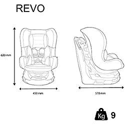 Siège Auto Pivotant 360° REVO Groupe 0+/1 (de 0 à 18 kg), Nania Agora Storm