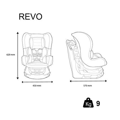 Siège Auto REVO, Groupe 0/1 (de 0 à 18 kg), NANIA Agora Gris