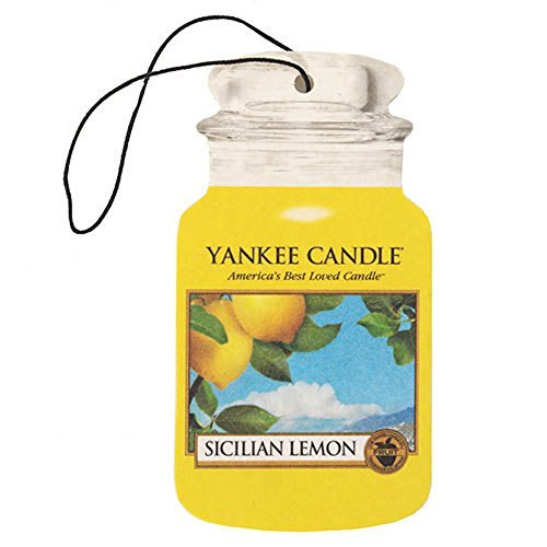 YANKEE CANDLE Sicilian Lemon Classic Car Jar - Barattolo di Carta, Misura M, Colore: Giallo
