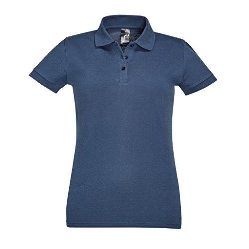 SOLS Perfect Damen Polo-Shirt, Kurzarm Denim