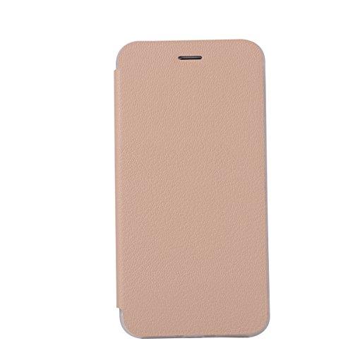 Custodia iPhone 8 Plus, Flip Premium Portafoglio Custodia in sintetica Protettiva Custodia [Cuffie Custodia] per iPhone 8 Plus. (Sakura Pink) Oro
