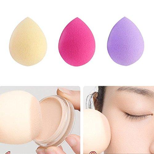 Malloom® 3PC Pro Schönheit Makellos Puderquaste Make-up-Schwamm Schwämmchen Kosmetikschwämmchen