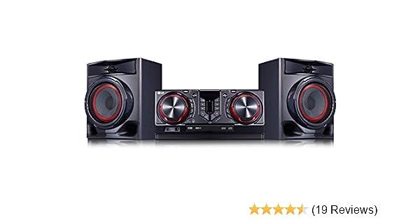 LG CJ44 Kompaktanlage Schwarz/Rot: Amazon.de: Elektronik