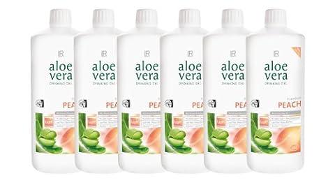 6x 1L Aloe Vera Drinking Gel Peach