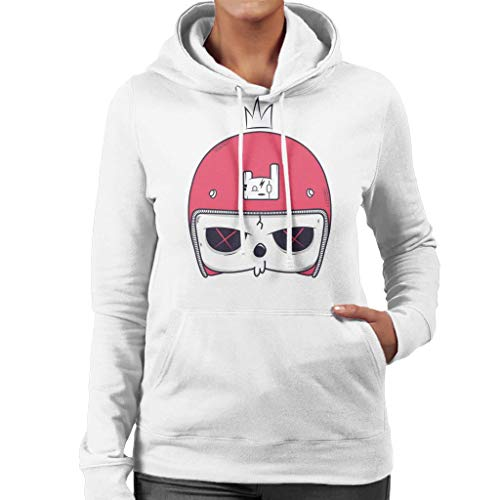 Cartoon Skull Helmet Women's Hooded Sweatshirt