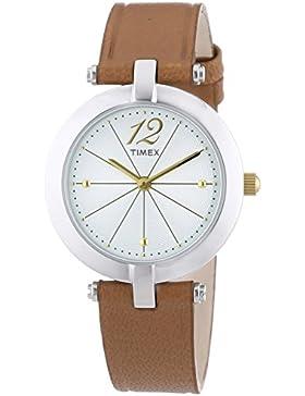 Timex Damen-Armbanduhr Analog Quarz Leder T2P543