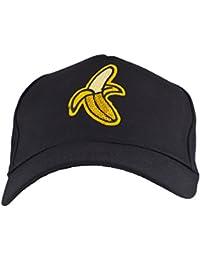 c71cd6057c0 Lux Accessories Black Yellow Sequin Banana Peel Novelty Dad Hat Baseball Cap