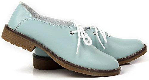 chaussures femme homme enfant fille garcon cuir garçon de ville sexy avec lacets Bleu ciel