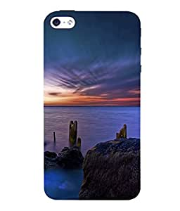 printtech Scenic Ocean Sunset Back Case Cover for Apple iPhone 4::Apple iPhone 4S