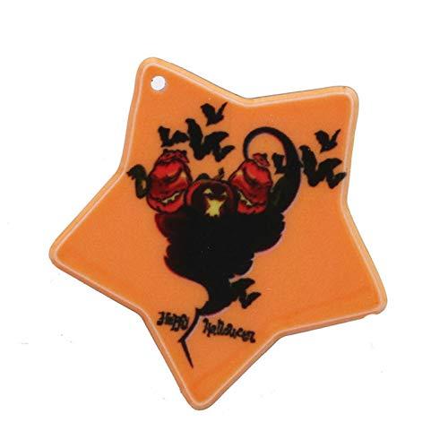Reosu Allerheiligen Apfelform Halloween Deko Kürbis Halloween Finger Kunststoff Orange