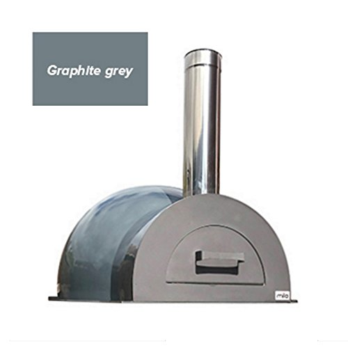 Easy to Build Mila 60 DIY Outdoor Wood Fired Pizza Oven Kit with a Graphite Grey Coloured Composite Shell