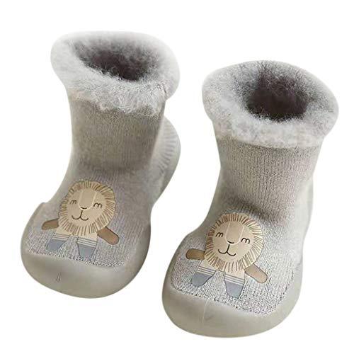 Chaussures Premiers Pas BéBé Fille Garçon Chaussettes de Noël Doux Souple Princesse, Binggong Chaussure Fille Père Noël Doux Sole Prewalker Chaussures de Maison antidérapantes pour BéBé 0-11mois