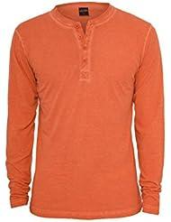Urban Classics Herren Sweatshirt Spray Dye Henley L/S Tee