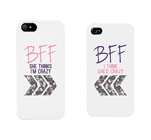 Best Friends Handy Fällen–BFF Floral Handy-Schutzhüllen für iPhone 4, iPhone 5, iPhone 5C, iPhone 6, iPhone 6Plus, Galaxy S3, Galaxy S4, Galaxy S5, HTC One M8, LG G3 (Htc One M8-iphone Fall)