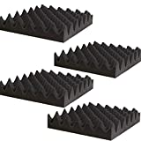 "4 Pack- Acoustic Panels Studio Foam Convoluted 2.5"" X 12"" X 12"" Sound Tiles Egg Crate"