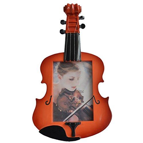Giftgarden 9x13 Eleganter Bilderrahmen im Geige Form Braun Geschenke Freunde