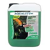 AQUALITY SPEED+ TeichKlärer 5 Liter (GRATIS Lieferung in DE - Wirkt schnell und sicher - Entfernt Trübungen, bindet Schwebstoffe im Gartenteich - Nachhaltig für kristallklares Teichwasser - Teichklar)