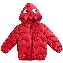 Happy Cherry - Abajo Chaqueta de Invierno con Capucha para Niños Niñas Infantil Diseño Cartoon Abrigo