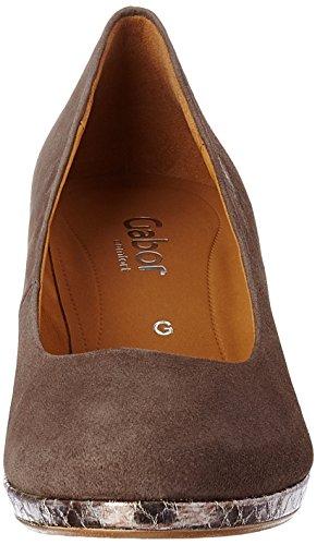 Gabor Shoes Comfort, Scarpe con Tacco Donna Marrone (fango anthrazit 13)