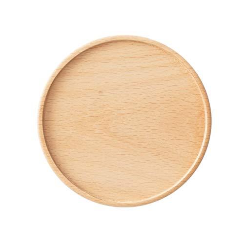 Dreifarbiger runder Massivholz-Verbrühschutz Untersetzer Einzeln verpackt Geruchlos
