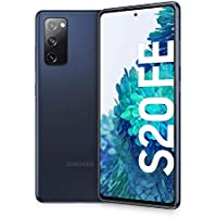 "Samsung Smartphone Galaxy S20 FE, Display 6.5"" Super AMOLED, 3 fotocamere posteriori, 128 GB Espandibili, RAM 6GB, Batteria 4.500mAh, Hybrid SIM, (2020) [Versione Italiana], Navy (Cloud Navy)"