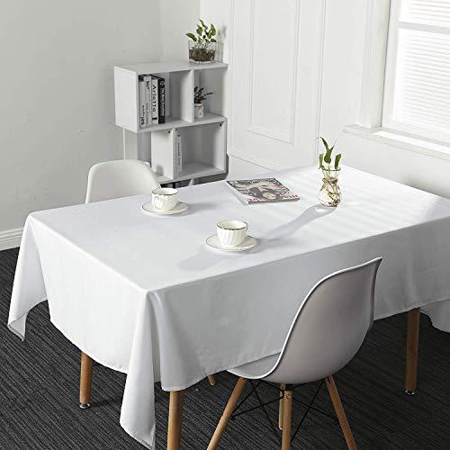 SUO AI TEXTILE-Tischdecke, wasserfest, abwischbar, länglich, für Küche und Garten, Textil, weiß, 52x70inch(132x178cm) (52 X 70 Tischdecke)