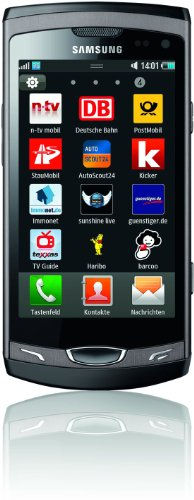 Samsung Wave II S8530 Smartphone (9,5 cm (3,7 Zoll) Display, Super Clear LCD Touchscreen, 5 Megapixel Kamera) ebony-gray