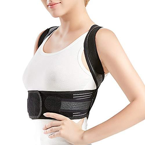 MISSMAO_FASHION2019 Geradehalter Rücken Bandage zur Haltungskorrektur bei Rücken Schulterschmerzen,Körperhaltungskorrektor und Rückenstabilisator für Kinder und Erwachsene Schwarz XL