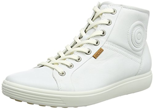 Ecco Damen SOFT 7 LADIES High-Top, Weiß (WHITE 1007), 41 EU