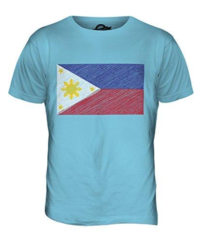 CandyMix Philippinen Kritzelte Flagge Herren T Shirt Himmelblau
