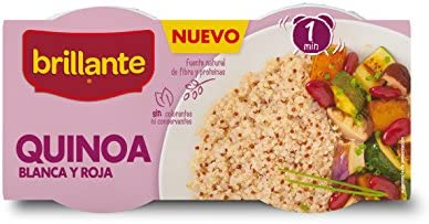 Brillante Quínoa Cereal Saludable, Color Blanco y Rojo - 2 Vasitos