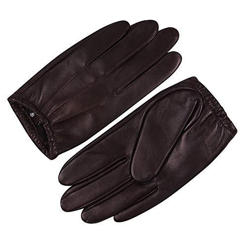 Agelec Frühlings- und Herbst-Winter-Lederhandschuh-Männer dünner Touch Screen, der die fahrenden Handschuhe fährt Motorradhandschuh fährt (Größe : L)