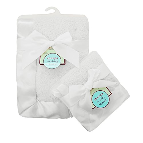 american-baby-company-ultra-soft-and-cuddly-sherpa-blanket-set-white