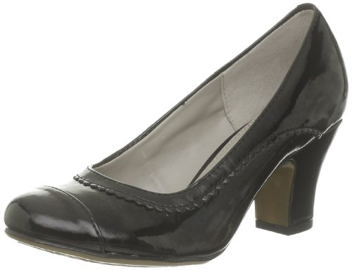 Hush Puppies Lonna Pump Ct, Scarpe col tacco donna Nero (Noir (Black Patent Pu))