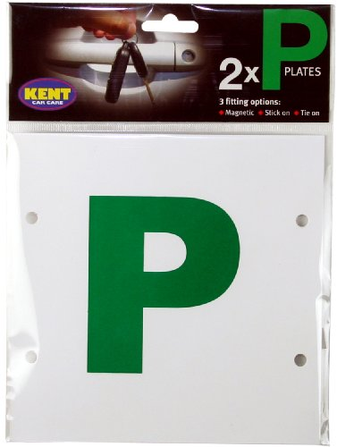 kent-car-care-p-plates-magnetic-stick-on-tie-on