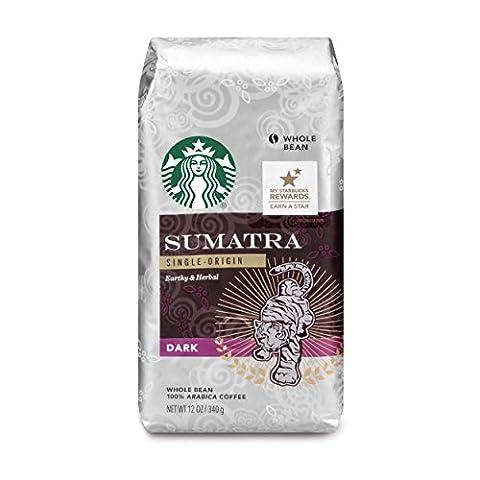 Starbucks Coffee Dark Roast, Sumatra Blend, Whole Bean, 12 oz