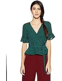 Forever 21 Women's Polka Dot Regular Fit Shirt