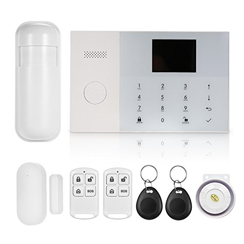 OWSOO Alarmanlage 433MHz Wireless GSM & Wifi SMS Auto-Dial Alarm Security System LCD-Display Tür Sensor PIR Bewegungssensor Smart Home Einbrecher Alarmanlage Sicherheit Alarm mit App-Steuerung Wireless-home-security-system