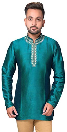 Desi Sarees Mens Mandarin Collar Kurti Tunic Shirt UK 2014.